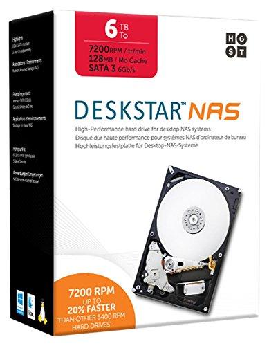 """HGST DeskStar NAS 3.5"""" 6TB 7200 RPM 128MB ..."""