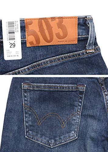 (エドウィン)EDWINジーンズ503レギュラーストレートジーンズストレッチデニムE50303-146(36,146(中色ブルー))