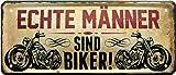 Echte Männer sind Biker 28x12 cm Deko Blechschild 1320