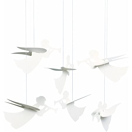 Angel Hanging Mobile - 16 Inches Cardboard - Handmade in Denmark by Flensted