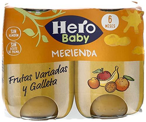 Hero Baby - Babymerienda Frutas Varia Galleta Fruta variada 380 gr - Pack de 3 (Total 1140 grams)