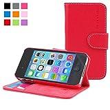 Snugg Étui Portefeuille pour iPhone 4/4S - Étui-Porte-Cartes en Cuirs avec Support Pratique - Étui de téléphone à Rabat de...