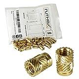 ruthex inserto roscado M6 (30 piezas) - RX-M6x12.7 casquillos roscados de latón - tuerca ...