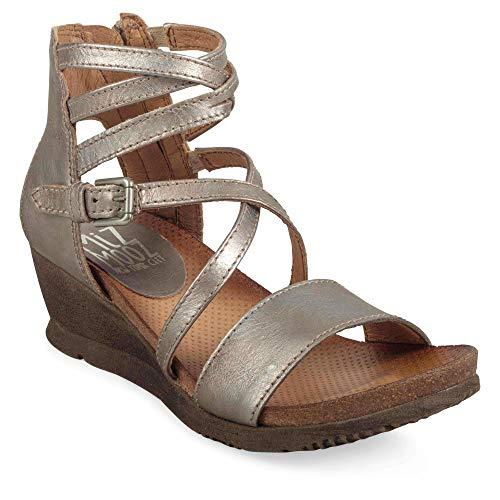 Miz Mooz Women's Shay Sandal, Nickel, 38 M EU (7.5 US)