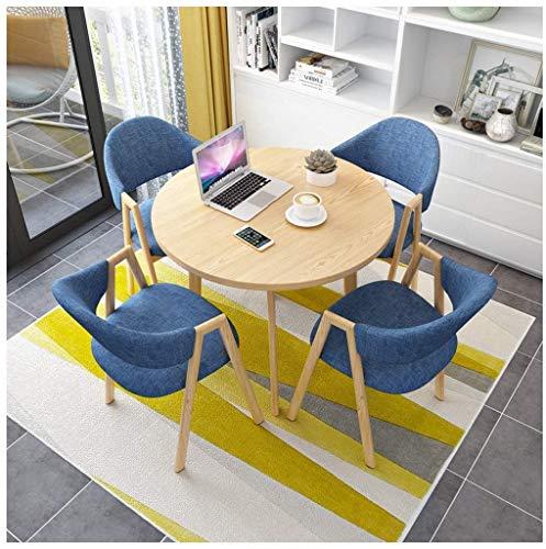 Im Restaurant Café Milch Teeladen Holz 5-teiliges Set, Werden Sie Eine Kombination Von Tischen Und Stühlen Erhalten. (Color : 7)