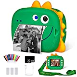 WQ Kids Camera, WiFi Instant Print Camera with 32GB Memory Card, Selfie Video Camera for Kid with Dual Lens, Print Paper, Color Pens Set, Rechargeable Digital Camera for Kids 3 4 5 6 7 8
