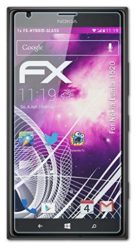 atFolix Glasfolie kompatibel mit Nokia Lumia 1520 Panzerfolie, 9H Hybrid-Glass FX Schutzpanzer Folie