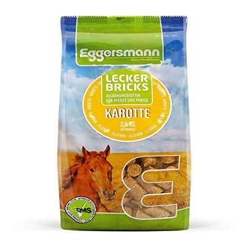 Eggersmann Lecker Bricks Karotte – Pferdeleckerlis Karotte – Leckerlies für Pferde und Ponies – 2,5 kg Beutel