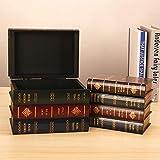 meetgr libri antichi vintage scatole, libri finti decorativi scatole per casa, libro segreto scatole salvadanaio cassaforte per gioielli preziosi, 20 x 14 x16 cm