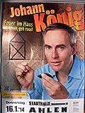 Johann König - Ahlen 2014 - Veranstaltungs-Poster A1-37