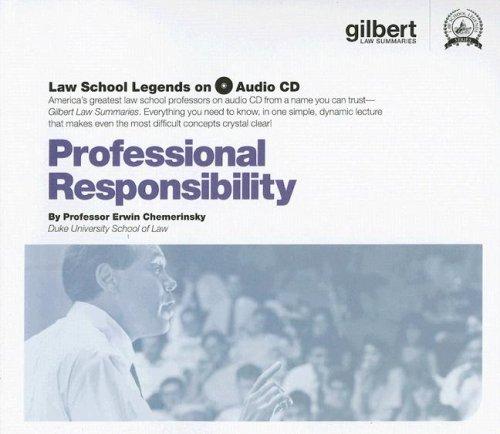 Professional Responsibility, (Law School Legends Audio Series)