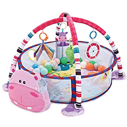 hunpta Baby Play Mat with Hanging Toys Kids Activity Gym and Ball Pit Infant Fitness Crawling Blanket for Newborns Babies and Toddlers