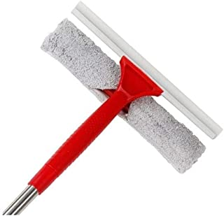 QBYWJ Glass Scraping Window Household Cleaning Glass Artifact Wiper Washing And Sealing (Color : Red)