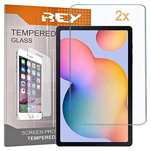 REY 2X Protector de Pantalla para Universal 7', Medida 11,1 x 18,3cm, Cristal Vidrio Templado Premium, Táblet