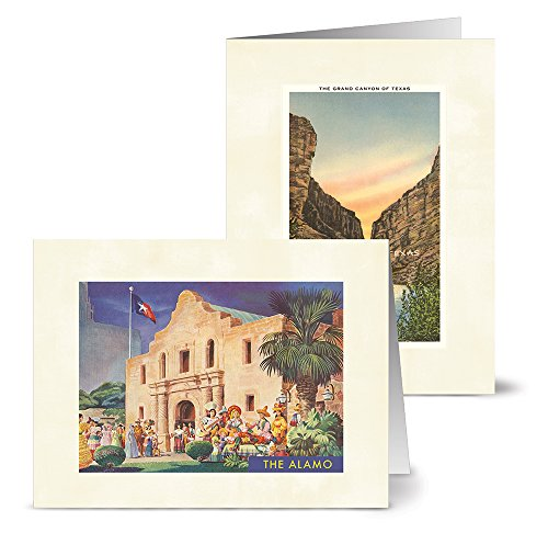 Note Card Cafe All Occasion Greeting Cards with Envelopes Included | 36 Pack | Blank Inside, Glossy Finish | 12 Vintage Texas Designs | Assorted Set for Greeting Cards, Occasions, Birthdays