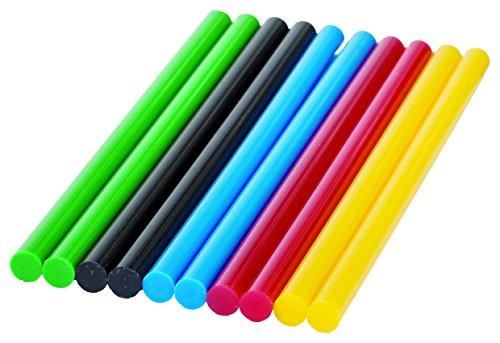Bosch Heißklebesticks Durchmesser, 60 g, 10 Stück, 7 x 150 mm, Verschiedenfarbig Sortiert, 260925C067, Körnung, frustfreie Verpackung