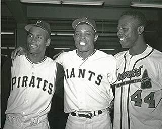 Gatsbe Exchange Baseball Legends Roberto Clemente Willie Mays and Hank Aaron 8 x 10 Photo