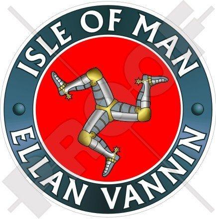 Isle of Man VANNIN (Schiff) TT Racing UK 100mm (10,2cm) Vinyl Bumper Aufkleber, Aufkleber