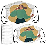 Face Mask Sweet Tooth Lady Funny Kids and Adults Masks Set