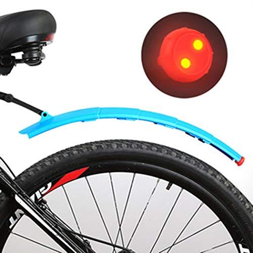 Parafango bici telescopico pieghevole per bicicletta e Mountain Bike con fanali Posteriori inclusi