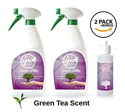 Scented Biodegradable Green Carpet/Spot Cleaner, No Fragrances or Toxic Chemicals, 32 oz Spray Bottle