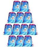 Qemsele Borse per Bambini Borse Sacca 12 PCS, Zaino con Coulisse Sacchettini del per Bambini e Adulti Festa di Compleanno Bambini bomboniare Borsa Sacchetto Festa (Frozen, W10 * H12)