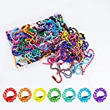 100pcs Ball Bead Chain 1.5mm Diameter 120mm Long Mixed Color Metal Adjustable Antiqued Ball Chain with Bead Connector Clasp for DIY Tags, Jewelry Findings, Craft Projects, ID Chain, Key Chain