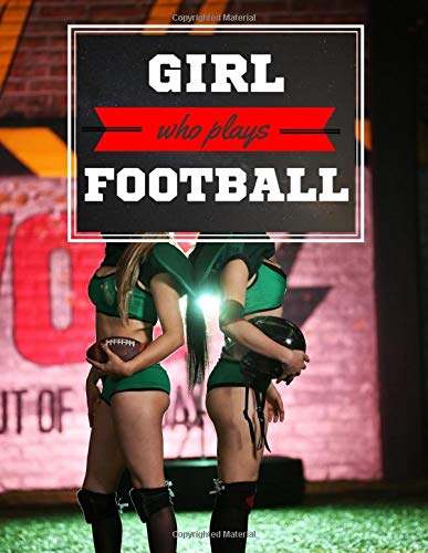 Girl who plays Football: Dot American Football Notebook, 8.5 x 11, 120 Dotted Pages with Flexible Soft Cover. Lovely Notepad to Write in, School, ... artists, adults, students, creative people.