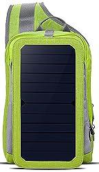 Daqin HOWO Solar Ladegerät Rucksack 6,5 Wände Solarpanel Tasche für Smart Handys und Tablets, GPS, eReader, Bluetooth-Lautsprecher, Gopro Kameras (Grün)