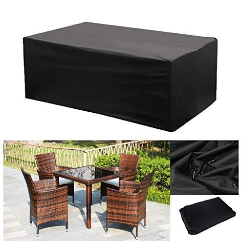 Gartenmöbelbezüge, Möbelbezug, Patio-Möbel-Abdeckungen Wasserdicht, Rechteckig/Oval Cover, Wind- Und Anti-UV, Für Sofas Und Stühle- Schwarz (Size : 170×94×70cm)