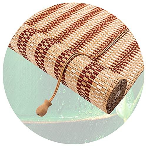 Tenda Rullo In Bambù, Parasol para Ventana, Cortina Privacidad, Protección UV Protección Solar Prueba Polvo, Utilizado para Balcón, Salón Té, Personalizable PENGFEI (Color : B, Size : 95cmX150cm)