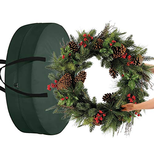 FGASAD Christmas Wreath Storage Bag,Artificial Garland Storage Bag Perfect Xmas Storage Container Protect Your Holiday Wreath from Dust, Insects, and Moisture