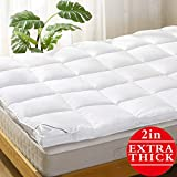 Mattress Topper Twin Pillowtop Bed Topper Cooling Mattress Pad with Anchor Bands - Extra Thick 2'