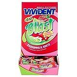 Vivident Fruit Blast, Chewing Gum Senza Zucchero, Gusto Fragola e Lime, Senza Glutine, Confezione da 200 Gomme da Masticare