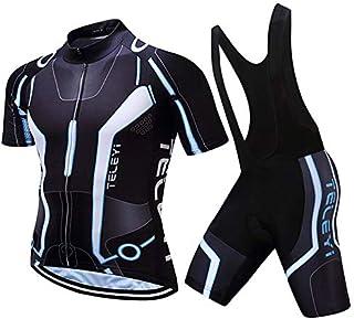Costume De Cyclisme,Coupe-Vent Et Chaud ZED Maillot De Cyclisme,Tenue Cyclisme Homme Couleurs Multiples