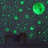 Vicloon Pegatina Pared Fluorescente, 519 Pcs Luminosas Pegatina Pared de la Habitación Luna Estrellas Puntos Pegatinas de Pared Para Chico Niño Bebé, Fluorescente Adhesivos Decoración para Dormitorio