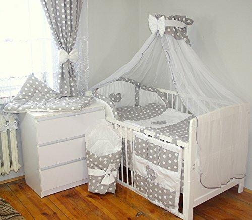 Baby's Comfort 24tlg BABY BETTWÄSCHE BETTSET MIT STICKEREI (12 FARBEN) ( fürs BABYBETT 120/60 cm, 2)