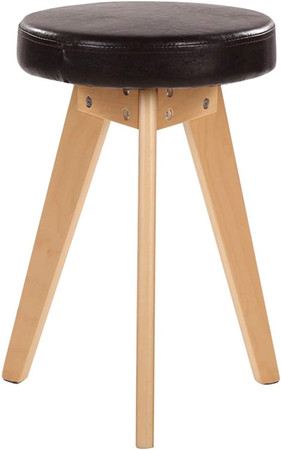 Solid Wood Stool, PU Dressing Stool Modern for Restaurant Dining Table Small Chair (color   color 3)