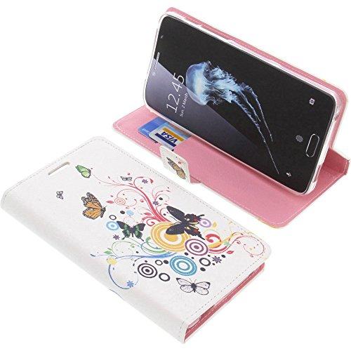 foto-kontor Tasche für Alcatel Flash Plus 2 Book Style Schmetterlinge Schutz Hülle Buch