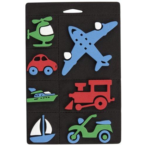 Craft Planet 7 pièces en Mousse Stamp Set Trains, Planes and Transport Multi Colour