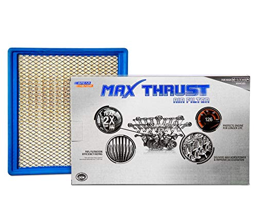 Spearhead Max Thrust Performance Engine Air Filter For All Mileage Vehicles - Increases Power & Improves Acceleration (MT-959)