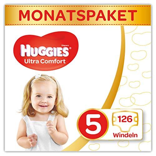 Huggies Windeln Ultra Comfort Baby Gre 5 Monatsbox, 1er Pack (1 x 126 Stck)