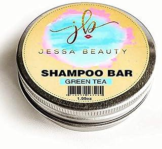 Shampoo Beauty Bar - 3 in 1 Coconut Oil Shampoo, Condition, Treatment - Travel hair care (Green Tea) - by Jessa Beauty