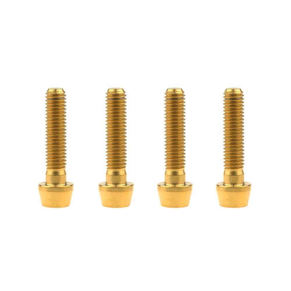 M8x15mm, Black Yaruijia Titanium Bolt M8x15 20 25 30 35 40 45 50mm DIN912 Taper Head Allen Screw Pitch 1.25mm Pack of 4