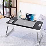 CHARMDI Laptop Bed Table, Portable Laptop Desk, Adjustable Laptop Bed Tray Table, Notebook Standing Desk with...