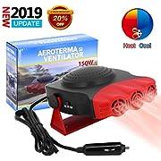ROYADVE 12V Car Heater & Fan Portable Cooller Defrost Defogger Automobile 3-Outlet Plug Fast Cooling & Heating