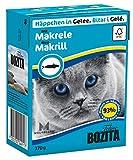 Bozita Häppchen in Gelee Nassfutter mit Makrele im Tetra Recart 16x370g - Getreidefrei - nachhaltig produziertes Katzenfutter für erwachsene...