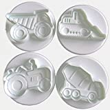 Konstruktion Trucks Cookie Ausstecher Biscuit Form Backen Kuchen Dekoration Topper–Set