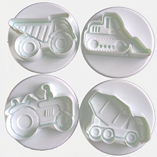 Set di formine per biscotti a forma di camion per edilizia