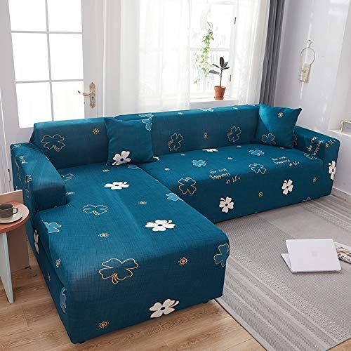 PPMP Muebles de Sala de Estar Funda de sofá de poliéster elástico Funda Protectora Funda de sofá sillón Funda de sofá A14 2 plazas